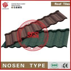 Waterproof Galvanized Stone Chip Coated Metal Roof Tile