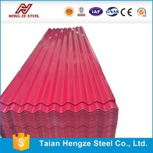High quality Full hard SGCH prepainted galvanized corrugated roofing tile for metal roofing