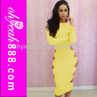 Top selling six colours to choose sexy bandage bodycon dress wholesale