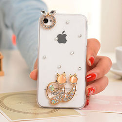 Diamond Crystal Hard Plastic Mobile Phone Case Cover for iPhone 4 4s