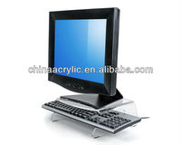 Elegant Crystal Clear Acrylic Monitor Stands/High Quality Laptop Monitor Stand