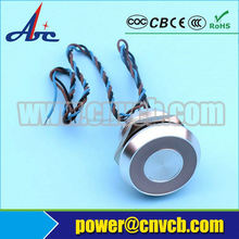 Popular! ! ! 19mm PS19A Metal Momentary Piezo Switch with Ring Illumination