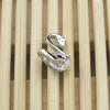 New fashion new design boys CZ stud snake shaped earring wholesale EST-102