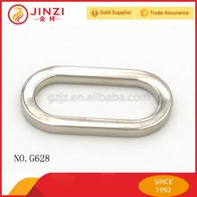 2015 New design shiny sliver handbag bulk metal 0 ring Oval shape buckle