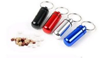 Micro Pill box Cache Container Geocache Geocaching Key rings keychain holder vial