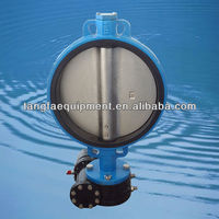 DN400 ductile iron worm gear operated EPDM seat center line butterfly valve