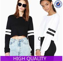 High Quality Top Pullover Women Custom Crop Hoodies