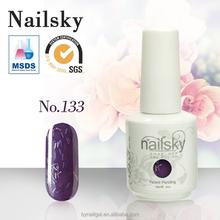 Fashion colors free sample nailsky 15ml nail gel polish / soak off gel nail polish with MSDS