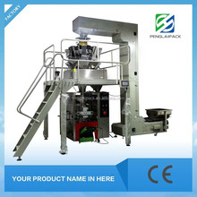 automatic nitrogen air plastic bag packing machine for food