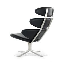 corona silla barcelona 8216 de cuero negro