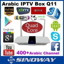 ผลิตภัณฑ์ที่ขายดีที่สุด2016ในภาษาอาหรับiptvกล่องq11ฟรีภาพยนตร์โทรทัศน์ชุดกล่องด้านบนiptvกล่อง