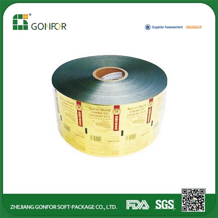 Pop milho OEM saquinho plástico de embalagens de alimentos rolo de filme rolo de filme de embalagens