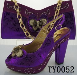 women's italian shoe and bag matching sets in china manufacture