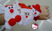 2015 christmas craft,piush fabric slap wristband