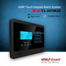 Wolf-Guard secur Advanced Touch Panel TFT Color Display IPHONE&ANDROID app Wireless GSM home alarm system