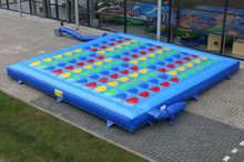 Interesting inflatable twister game, giant inflatable twister bed
