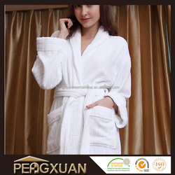 hot sale shawl/kimono collar cotton velvet bathrobes cotton women