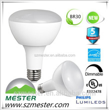 Mester ul cul energy star dimmable COB 9w 780lm 14w 1050lm BR30 R30 BR40 R40 BR spot light lights housing