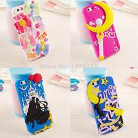 2015 New 3D Cartoon Japan Comic Sailor Moon cute Bow/Magic wand/cat/Lovers soft silicone case For iphone5 5s 5c 6 4.7inch 6 plus
