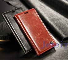 Luxury Quality PU Leather Flip Wallet Case For Samsung Galaxy Note5 ,Brown Flip Wallet Case Book Stand Cover For Note 5