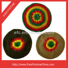 tam jamaincan rasta sombrero hecho a mano de la boina