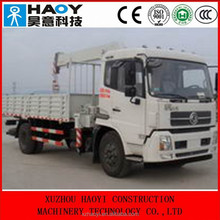 DongFeng middle-sized 4*2 cargo truck,telescopic booms truck mounted crane DFL5160 for sale
