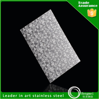 cheap embossed stainless steel sheet decorative plate