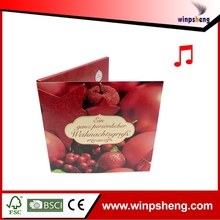 Hot Selling Fashionable Handamde Music Promotion Card For Sale