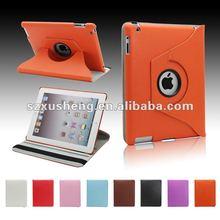 360 degree rotatable TPU+PC case for ipad smart case
