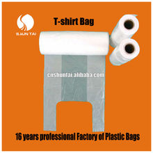 over 16 years professional factory PE shopping packaging plastic T-shirt bag