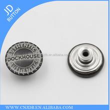 Metal 65 brass brushed black color jeans shank buttons for denim