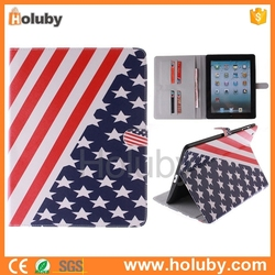 US national flag patern wallet case for ipad, bumper case for ipad, for ipad shockproof case
