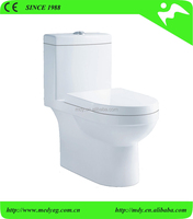HOT SALE! SUPER SPIRAL DOUBLE SILENCE FLUSH SOFT CLOSE SEAT COVER ONE PIECE TOILET