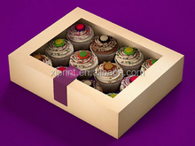 Cheap hot sale Christmas Cupcake box for 12 cupcakes