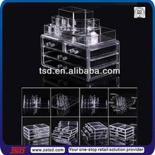 TSD-A833 factory supply high quality acrylic lipstick organizer/acrylic nail polish organizer/acrylic organizer for cosmetics