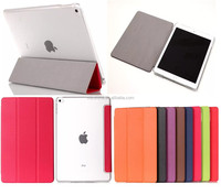 Extra slim for iPad Air 2 case smart stand leather case cover for ipad air 2 smart stand leather case for ipad 6