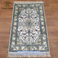 nanyang 2.5x4ft popular persian handmade traditional home handknotted oriental chinese artificial silk carpets