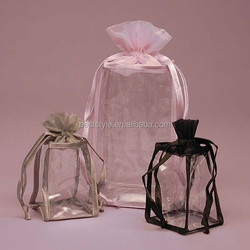 Quality good price pvc organza gifts bag