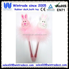 Easter rabbit pen with feather decoration/holiday pens