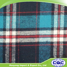 wholesale double side check plaid flannel shirt fabric