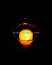 led candle in glass for holiday gift