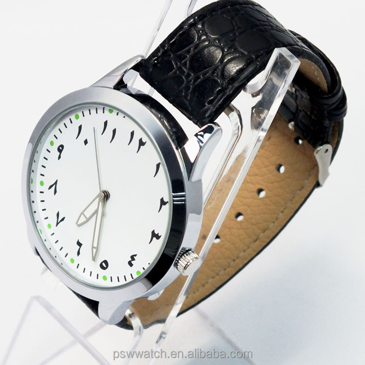 Big Dial Men Watch Vogue And Good Quality leather movt Watch In Factory Price