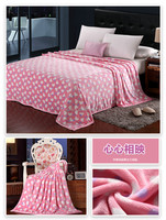 lovely pink rotary printing bedspread baby blankets china factory price flannel fleece blanket