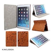 Kaku manufacture flip leather smart cover tablet case for girls/tablet cover case for girls
