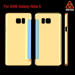 For Samsung Galaxy Note 5 leather PC case Cheap mobile phone clear plastic hard back case