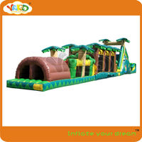 Adult inflatable obstacle course,jungle fun obstacle course inflatable game