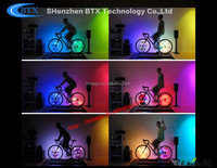 GIF animations,4 root lamps and 256 RGB lamps bicycle light