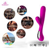 threaded head penis sex vibrator adult toys for Women, bunny rabbit dildo sex toy vibrator with clit stimulator