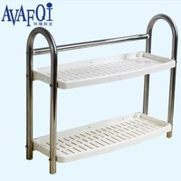 AQ-CF-1017 Hot Item 2Tiers Metal Wall Kitchen Dish Rack