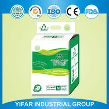 Waterproof breathable clothlike high quallity disposable adult diaper from China manufacturer